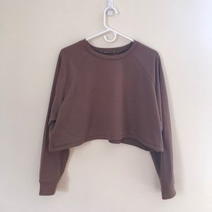 FOREVER21 Cropped Crewneck Top